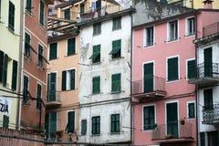 Riomaggiore, un des villages de Cinque Terre, l'Italie Image stock