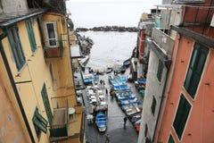 Riomaggiore, un des villages de Cinque Terre, l'Italie Photos libres de droits
