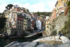 Riomaggiore view in Ligurian coast Stock Photography