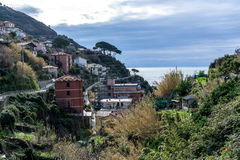 Riomaggiore view Royalty Free Stock Photography
