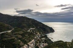 Riomaggiore view Stock Photography