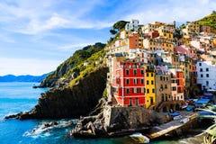 Riomaggiore village cinque terre Italy royalty free stock photo