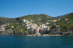 Riomaggiore village, Cinque terre, Italy. Royalty Free Stock Images