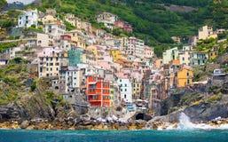 Riomaggiore village in Cinque Terre, Italy Stock Images
