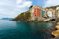 Riomaggiore village in Cinque Terre Stock Photo