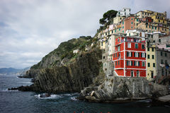 Riomaggiore village Royalty Free Stock Images