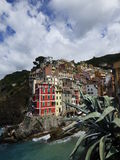 Riomaggiore. Is a village and comune in the province of La Spezia, situated in a small valley in the Liguria region of Italy Royalty Free Stock Photos