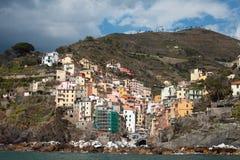 Riomaggiore village, Italy. Stock Photography