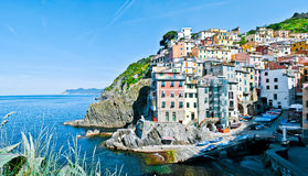 Riomaggiore village in Liguria, Italia Stock Photography