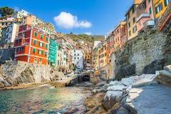 Riomaggiore village one of Cinque Terre in the province of La Sp Stock Photography