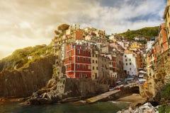 Riomaggiore, Włochy, Europa obrazy stock