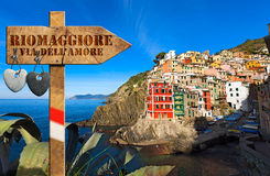 Riomaggiore - The Way of Love Stock Photography
