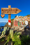 Riomaggiore - The Way of Love Royalty Free Stock Images