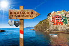 Riomaggiore - The Way of Love Stock Images