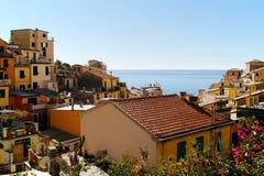 Riomaggiore wioska Zdjęcie Stock