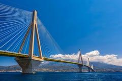 Rion-Antirion桥梁 免版税图库摄影