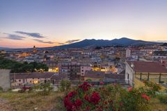Rionero costa. Beautiful view of Rionero from the zone of the city called Costa stock photo