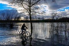 Rios na inundação em França imagem de stock