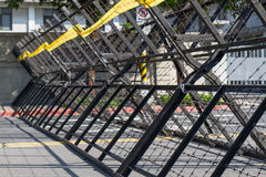 Riot barriers Stock Photography