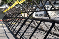 Riot barriers Stock Image