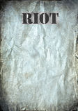 Riot letters on antique poster Stock Photos