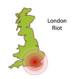 Riot in london illustration Stock Photos