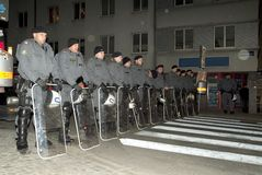 Riot Police. Is in action on the streets of Vienna Stock Photography