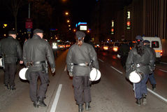Riot Police. Is in action on the streets of Vienna Stock Images