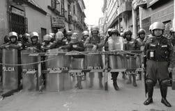 Riot Police in Bolivia Stock Photo