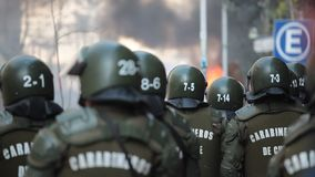 Riot Police stock video