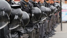 Riot Police with Helmets, Russia stock footage