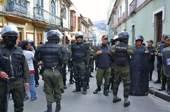 Riot Police in La Paz Stock Photography