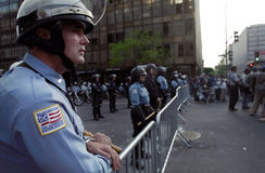 Riot Police at Protest Royalty Free Stock Images