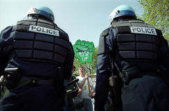Riot Police at Protest Royalty Free Stock Photo