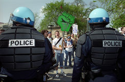 Riot Police at Protest Stock Image