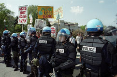 Riot Police at Protest Stock Photography