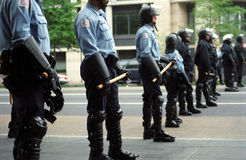 Riot Police at Protest Royalty Free Stock Image