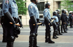Riot Police at Protest Stock Photos
