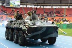 Riot police at the stadium Luzhniki. Stock Image