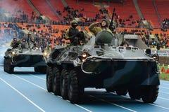 Riot police at the stadium Luzhniki. Royalty Free Stock Images