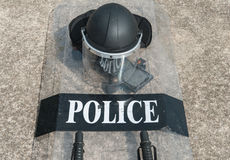 Riot police. Police Training in the use of batons to control crowds Royalty Free Stock Images