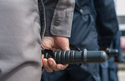 Riot police. Police Training in the use of batons to control crowds Royalty Free Stock Image