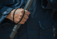 Riot police. Police Training in the use of batons to control crowds Stock Image