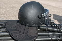 Riot police. Police Training in the use of batons to control crowds Stock Photography