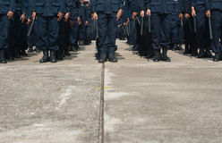 Riot police. Police Training in the use of batons to control crowds Stock Images