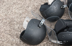 Riot police. Police Training in the use of batons to control crowds Royalty Free Stock Photography