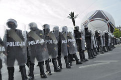 Riot police. Royalty Free Stock Image