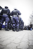Riot police unit Royalty Free Stock Photography