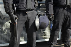 Riot Police. Unit waiting for orders Royalty Free Stock Images