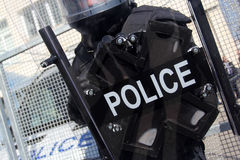 Riot Police. Unit waiting for orders Stock Image
